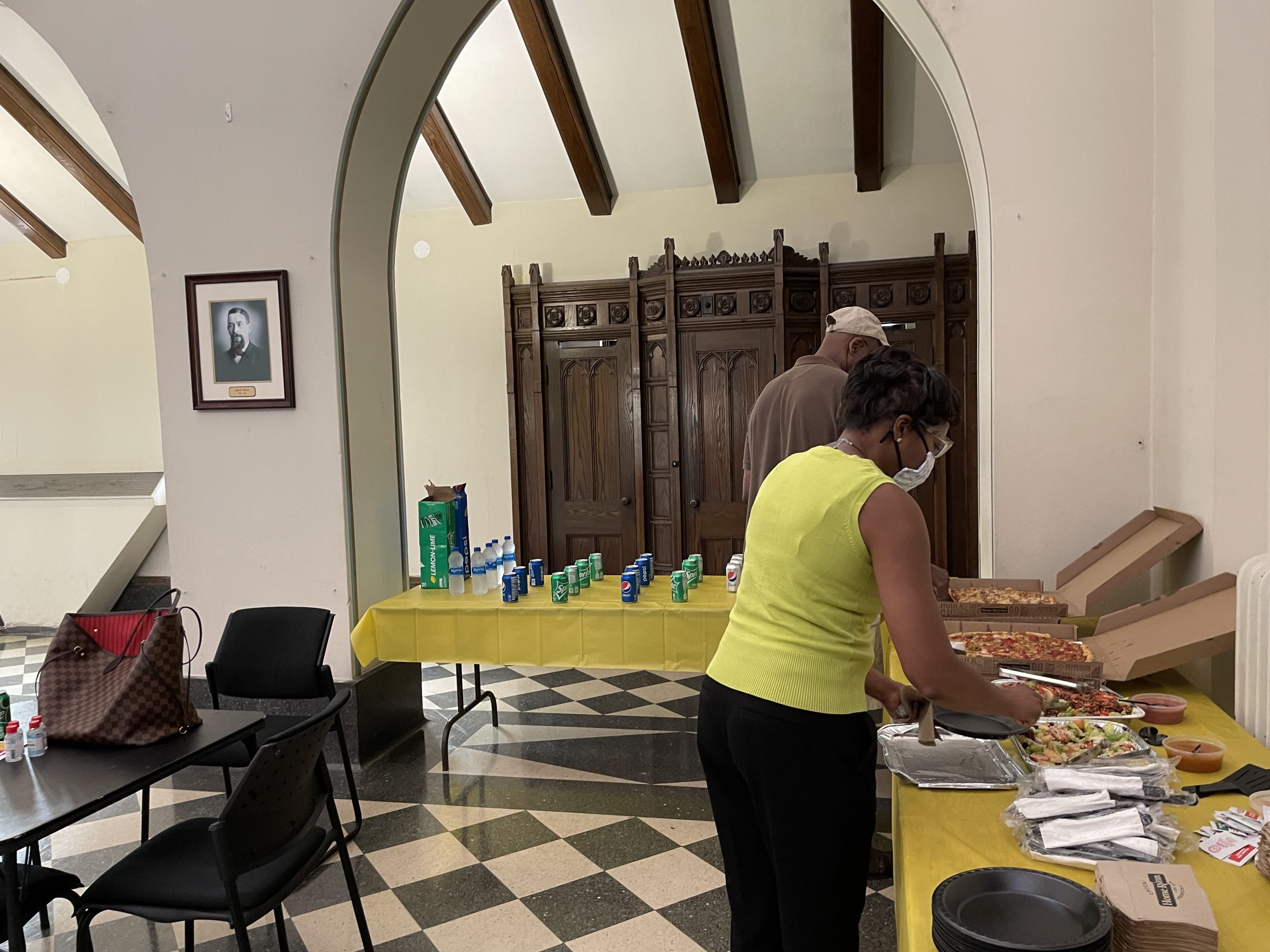 Home Run Inn donated a great lunch. Special thanks to Angela Thompson for facilitating the lunch.